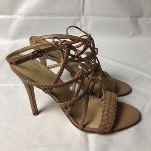 IVANKA TRUMP Hera Open Toe Sandals 12 Nude Heels